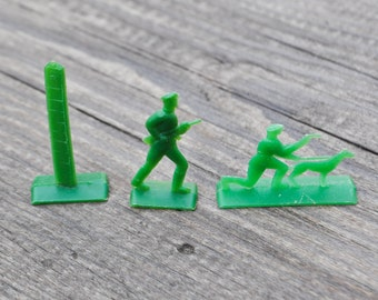 Vintage Soviet Russian plastic toy Soldiers.