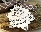 50th Wedding Anniversary Ornament - Christmas presents - Unique Anniversary gift- Personalied  Ornaments- The Charmed Wife
