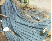 The Needlecraft Shop Crochet Afghan Collector Series Fisherman's Catch Pattern