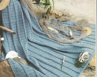 Fisherman Afghan Etsy