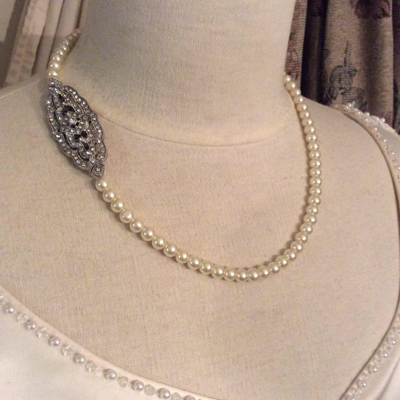 deco necklace pearl necklace statement necklace bridal