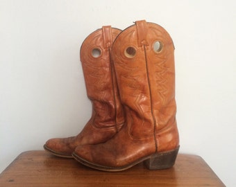 ACME Cowboy Boots Women's Size 7 UK Oxblood Leather Boots