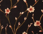 Two 26 x 26  Custom Designer Decorative Pillow Covers Euro Shams - Floral Vine - Black
