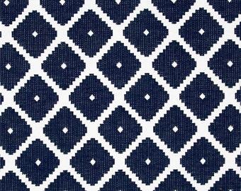 Two 20 x 20 Custom Designer Decorative Pillow Covers - Dwell Studio Robert Allen Souk Admiral Navy/White