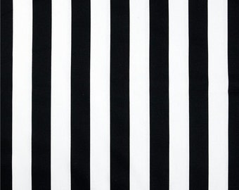 One King/Queen Duvet Cover / Reversible  -  Black/White Stripes and Toile