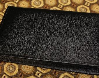 Vintage Genuine Leather Wallet - Black Leather Wallet - Retro Wallet