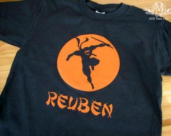 Personalized ninja t shirt for boys, ninja birthday shirt for boys