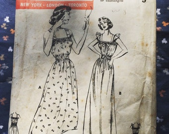 1950s Butterick 532 nightgown pattern.