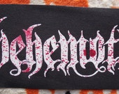 Blood of the Lamb BEHEMOTH sew on patch blood spatter