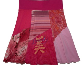 Beauty Upcycled Hippie Skirt Women's Medium Large recycled t-shirt clothing from Twinkle