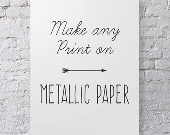 Metallic Paper Option- Print Any Photo on Metallic Paper, Add On To Order, Paper Upgrade, Matallic Finish for Photograph
