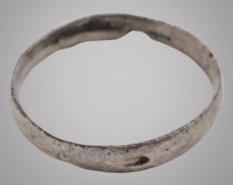 Ancient Viking Womans Wedding Band, Jewelry C.866-1067A.D. Size 4 1/2  (15mm)(Brr875)
