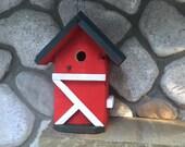 Birdhouse, Functional Barn Style Bird House Nest Box, Garden Outdoor Birdhouses For Sale, SALE!, Item 251639923