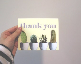 Thank you Succulent card