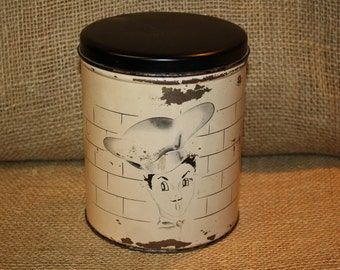 Vintage Canister - Cook - Chef - Kitchen Decor - Kitchen Storage