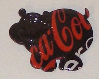 Hippo Magnet - Red Black Coca-Cola Coke Zero Soda Can