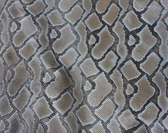 "Leather 12""x12"" BRONZE and BLACK Boa Snake embossed Leather Cowhide 2.25-2.75 oz / 0.9-1.1 mm PeggySueAlso™ E1580-04"