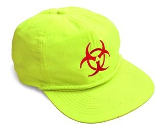 Wicked 80s Neon Biohazard Cobra Snapback Cap