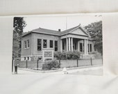 Vintage Public Library Fairbury, Nebraska Unused Real Photo Postcard RPPC