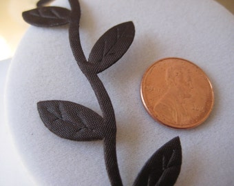 10 yards Dark Brown Leaves Ribbon Trim for Wedding, Card Making, Crafting, Scrapbooking, Embellishment,  3/4 inch wide