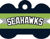 Seahawks Pet Id Tag, NFL Pet Id Tag, Seahawks Pet Tag, NFL Pet Tag, NFL Inspired Pet Tag, Custom Pet Tag
