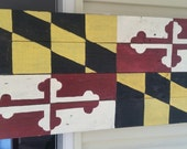 Maryland flag on reclaimed pallet wood