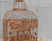 Small Rose Gold Wedding Birdcage Card Holder / Wedding Card Box / DIY Wedding Birdcage / Wedding Supplies / Centerpieces