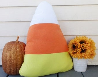 candy corn pillow, candy corn cushion, Halloween cushion, Halloween decor, fun Halloween decor, candy corn decor, cute Halloween decor