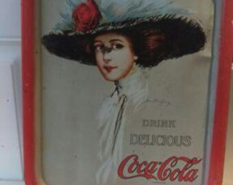 Vintage Ccca Cola Advertising Tray