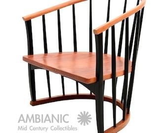 Mid Century Modern Atomic Ranch Spindle Chair   Tapiovaara Eames Era