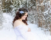 Maternity / Wedding Floral Crown / Flower Crown - READY TO SHIP