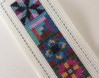 Cross Stitch Quilt Blocks Squares Bookmark Vinyl Weave
