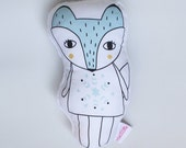 Arctic Fox Soft Rattle Toy Plush