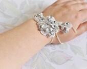 Vintage inspired crystal embellished cuff bracelet