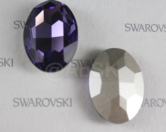 1 piece Swarovski 4127 30X22mm Faceted OVAL Fancy Stone - Tanzanite Foiled