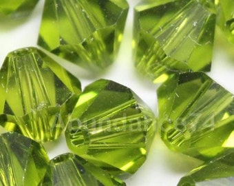 Swarovski Crystal Beads BICONE 5328 5301 crystal beads OLIVINE - Available in 3mm, 4mm, 5mm and 6mm