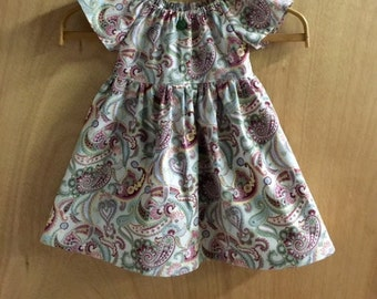 Paisley Peasant Dress, size 3t