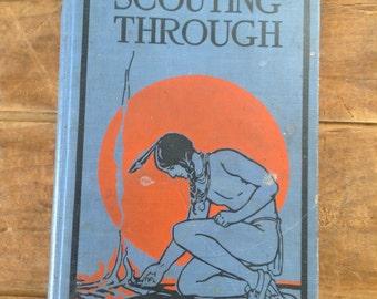 Journal, Scouting Through vintage repurposed large Journal