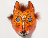 paper mache squirrel Halloween mask