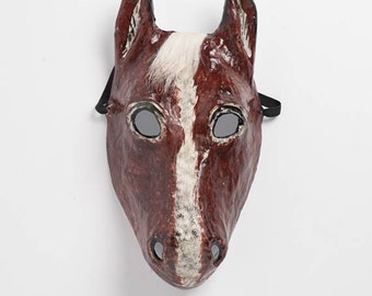 horse paper mask