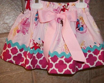 Beauty Princess Inspired..Girls Skirt, Toddler skirt. Available in 0-12 months, 1/2, 3/4, 5/6, 7/8, 9/10 Bigger Sizes Available