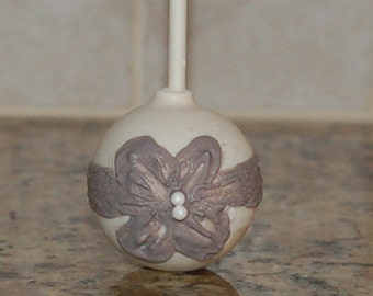 WEDDING CAKE POPS, Quinceanera Cake Pops, Silver Anniversary Cake Pops