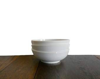 Vintage Melmac Bowls Off White Set of 3 - Mid Century Kitchen Decor Made in USA for Darien by Westinghouse