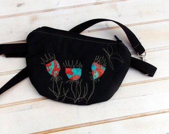 Belt bag/belt pack/hip bag/ fanny pack/ waist bag/ waist purse/woman bag/Boho bag/ Grey lotus bag