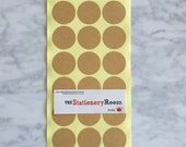 Kraft Paper Seal Stickers - 3cm round Label Sticker Seals - 72 Blank Seals