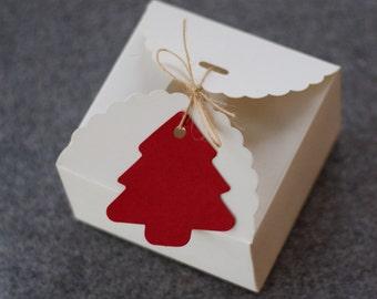 White Paper Gift Box - 9cm x 9cm x 6cm - 5 boxes