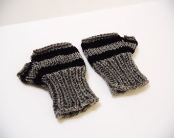 Knitted Fingerless Gloves (Gloves for kids, Striped gloves, Free finger gloves, baby mittens, etc...)