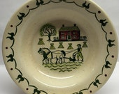 CALIFORNIA POTTERY Homestead Provincial Metlox Rimmed Soup Bowl Thanksgiving Table