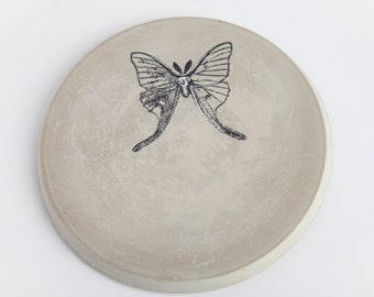 Trivet, Hot Plate, Concrete, Multi Functional, Butterfly Gift Women, Gift under 25, Butterfly Gift Her, Rustic Hostess Gift, Gift for Cooks