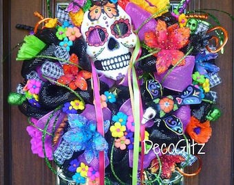 DAY of the DEAD WREATH Día de los Muertos Wreath